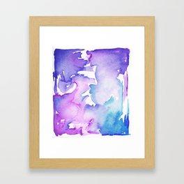 blue wash Framed Art Print