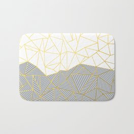 Ab Half and Half Grey Bath Mat