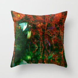 Strange Lake Throw Pillow