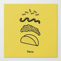 taco Canvas Prints featuring Taco Puzzle  by Rachel Peck