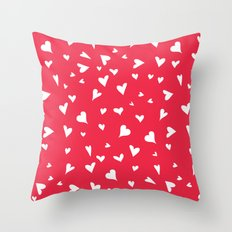 apparently, I'm the queen of hearts Throw Pillow