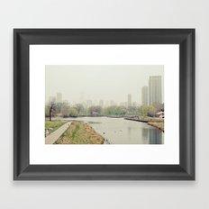 Chicago Fog Framed Art Print