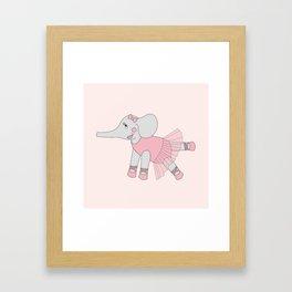 illusima Ballerina Elephant Framed Art Print
