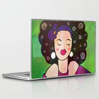 geisha Laptop & iPad Skins featuring GEISHA by SAMHAIN