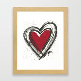 Your Heart is your Best Secret Framed Art Print