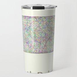North Dakota map Travel Mug
