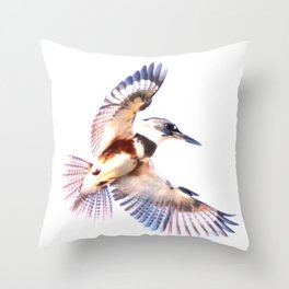 Colorful Kingfisher Throw Pillow