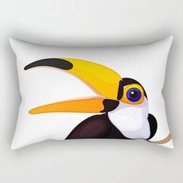 Exotic toucan. Vector graphic character Rectangular Pillow