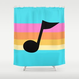 Mabel Music Note Shower Curtain