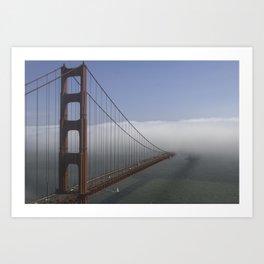 Golden bridge is hiding Art Print