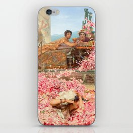 The Roses of Heliogabalus by Sir Lawrence Alma-Tadema iPhone Skin