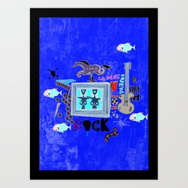 Rock and Fun Art Print
