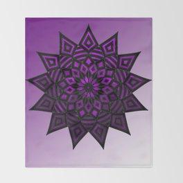 Purple Star | Tam Tam | Mandhala Throw Blanket