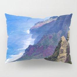 Hawaiian Coastal Cliffs: Aerial View From The Angels Pillow Sham