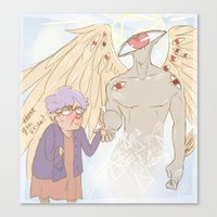 wtnv Canvas Prints featuring A Faint Buzzing Sound by Nana