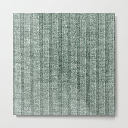 Moss Green Jersey Knit Pattern Metal Print