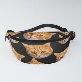 cute black and orange cat pattern Fanny Pack