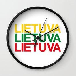 LITHUANIA Wall Clock