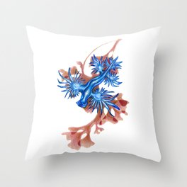 A Nude in Blue Throw Pillow