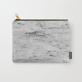 White Marble with Black Flecks Carry-All Pouch