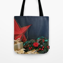 The Feeling Of Christmas, Beautiful Festive December Background Tote Bag