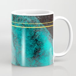 Textured Turquoise Diamonds Coffee Mug