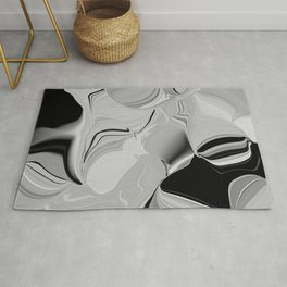 abstract in hazy grays Rug