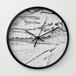 Jamaican Sunset Sketched Wall Clock
