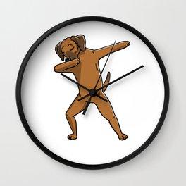 Funny Dabbing Rhodesian Ridgeback Dog Dab Dance Wall Clock