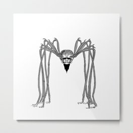 spider . black and white . Metal Print
