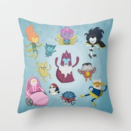 X-Men Adventures in The Land Of Ooo. Throw Pillow