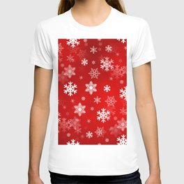 Light Red Snowflakes T-shirt