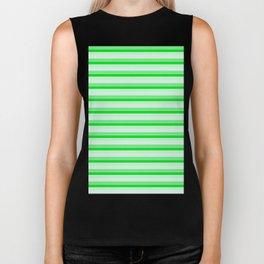 Green stripes. Biker Tank