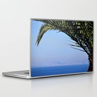 palm tree Laptop & iPad Skins featuring Palm Tree by M. Gold Photography