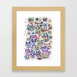 Kitty Kaos Framed Art Print