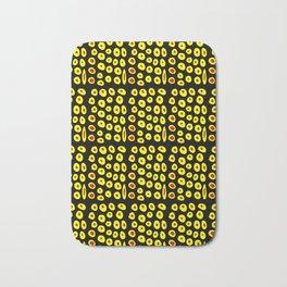red and yellow polka dot- polka,polka dot,dot,pattern,circle,disc, point,abstract, minimalism Bath Mat