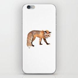 Red Fox Watercolor iPhone Skin