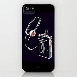 Walkman Tape Player Audio Analog Cassette Old School Music Geek Vintage Design iPhone Case