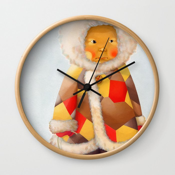 a child being lost in thought Wall Clock