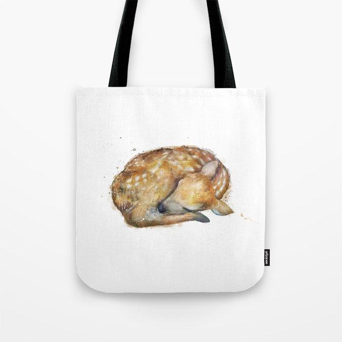 Sleeping Fawn Tote Bag