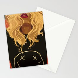 If Looks Could Kill (portrait of Daphney) Stationery Cards