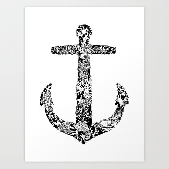 Anchor and Reef Art Print