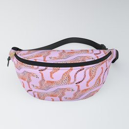 Cheetahs on Pink Fanny Pack