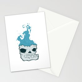 Skull on fire Stationery Cards