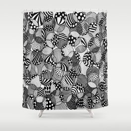black and white circles I Shower Curtain