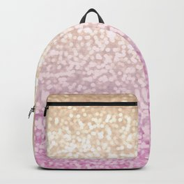 Champagne Gold and Pink Glitter Ombre Backpack