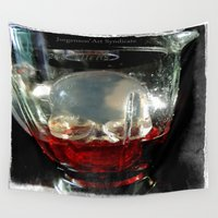 cocktail Wall Tapestries featuring Deadly Cocktail by Jorgenson Art Syndicate