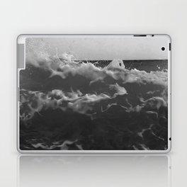 Black & White Sea Waves Photography Art Print Laptop & iPad Skin
