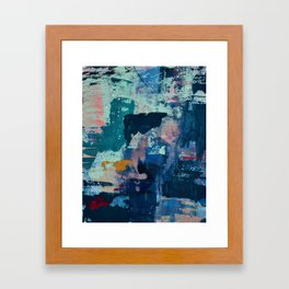 The Peace of Wild Things: a vibrant abstract piece in a variety of colors by Alyssa Hamilton Art Framed Art Print