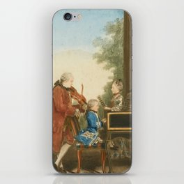 The Mozart family on tour: Leopold, Wolfgang, and Nannerl. Watercolor by Carmontelle, ca. 1763 iPhone Skin